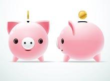 Bank pig coin Royalty Free Stock Photo