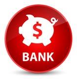 Bank (piggy box dollar sign) elegant red round button Stock Photos