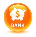 Bank (piggy box dollar sign) glassy orange round button Royalty Free Stock Image