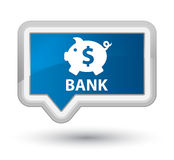 Bank (piggy box dollar sign) prime blue banner button Royalty Free Stock Images
