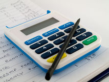Bank Pin Number Security Calculator With Stylus Royalty Free Stock Photo