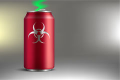 Bank with a poisonous soda. Vector illustration Royalty Free Stock Photo