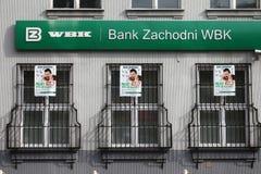 Bank in Poland stock photos