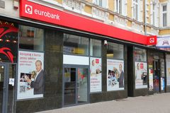 Bank in Poland Royalty Free Stock Photography