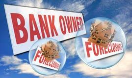 Bank Posiadać Foreclosure Obraz Royalty Free