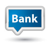 Bank prime blue banner button. Bank isolated on prime blue banner button abstract illustration Stock Photography
