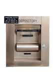 bank pudełka depozytu odizolowana noc Fotografia Stock