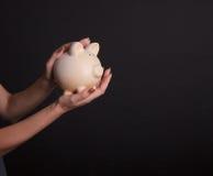 bank ręce świnka Zdjęcia Stock