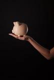 bank ręce świnka Obraz Royalty Free