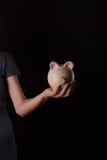 bank ręce świnka zdjęcie royalty free
