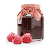 Bank with raspberry jam Stock Image
