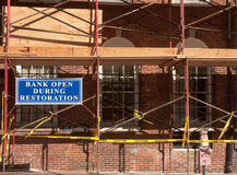 Bank Reconstruction Stock Photography