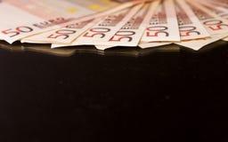 bank repet för anmärkningen för pengar för fokus hundra för euroeuros fem Arkivbilder