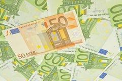 bank repet för anmärkningen för pengar för fokus hundra för euroeuros fem Royaltyfria Foton