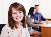 Bank representative. Portrait of a friendly bank representative Royalty Free Stock Images