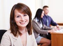 Bank representative. Portrait of a friendly bank representative royalty free stock images
