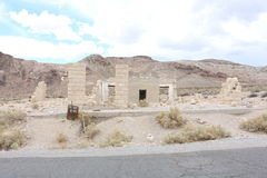 Bank in Rhyolite. A ruin of a bank in the ghost town Rhyolite Stock Images