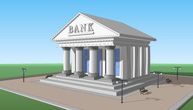 Bank, right side view 02 Stock Photos