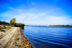 Bank of river stock photography