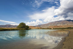 Bank of the river in Altai Mountains Royalty Free Stock Photos