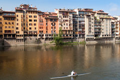 Bank of river Arno in Florence Stock Photos
