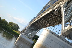 Bank. River  bridge structure Royalty Free Stock Photo