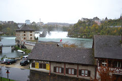 Bank of the River Rhine near the Rhine Falls Royalty Free Stock Image