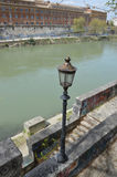Bank of the river Tiber Royalty Free Stock Photography