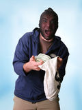 Bank robber Royalty Free Stock Photo