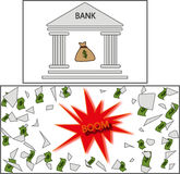 BANK. robbery. bankruptcy. Royalty Free Stock Photography
