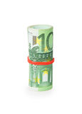 Bank Roll of Euro bills Royalty Free Stock Image