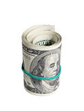 Bank Roll of Hundred Dollar Bills Stock Photography