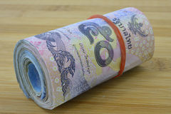 Bank roll of  of Thailand Stock Photo