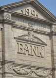 1891 bank roof and frontage Stock Photography