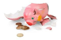 bank rozbity Świnka Zdjęcie Royalty Free