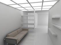 Bank in rust ruimte Stock Foto's