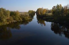 Bank rzeka Fotografia Royalty Free