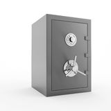 Bank safe stock illustration