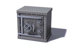 Bank safe. 3D render of a bank safe made of metal Stock Image