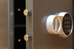 Bank safe. The bank safe with the digital lock Stock Photography