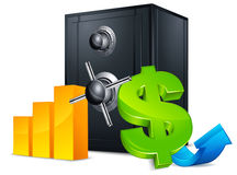 Bank safe concept Royalty Free Stock Photography