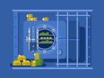 Bank safe flat design Stock Photos