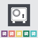 Bank safe flat icon. Stock Photos