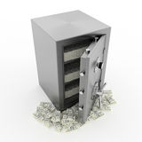 Bank safe with money Stock Photography