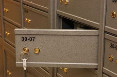 Bank safe room. With amount of bank boxes Royalty Free Stock Photo