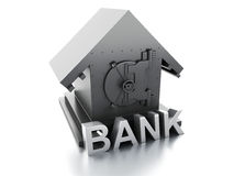 Bank Safe. security concept. Image of Bank Safe. security concept on white background. 3d illustration Royalty Free Stock Photo