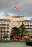 Bank of Santander facade Royalty Free Stock Photography