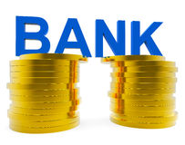 Bank Savings Represents Advance Financial And Growth Royalty Free Stock Images
