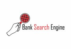 Bank search engine logo. A logo that can be used for bank search engines and other e-business solutions. Mainly area of online financial business, online Stock Photos