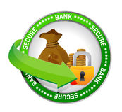 Bank secure Money icon seal Royalty Free Stock Image
